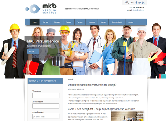 Wordpress website MKBV