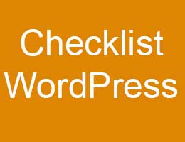 checklist wordpress website