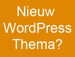 Nieuw WordPress thema installeren